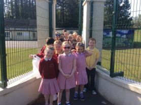 Primary 3 and 4 on their Summer nature walk